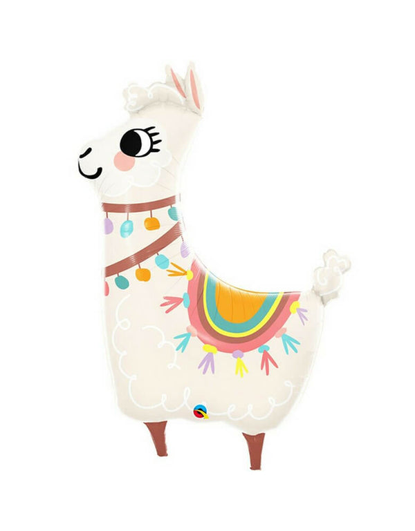 Qualatex 45-inch loveable llama foil balloon for a fiesta party