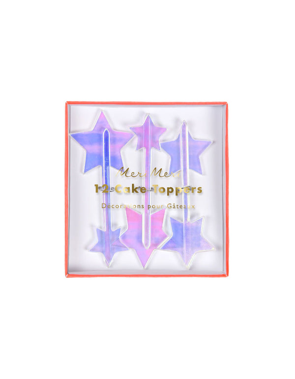 Iridescent Star Toppers