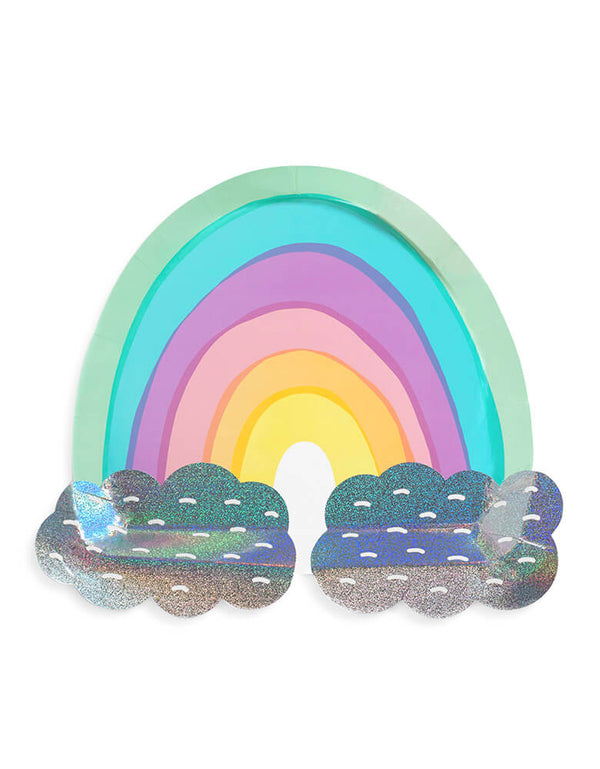 Day Dream Society over the rainbow die cut large paper plates