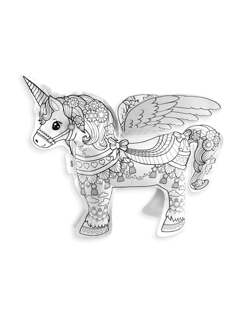 3D Colorable Magical Unicorn