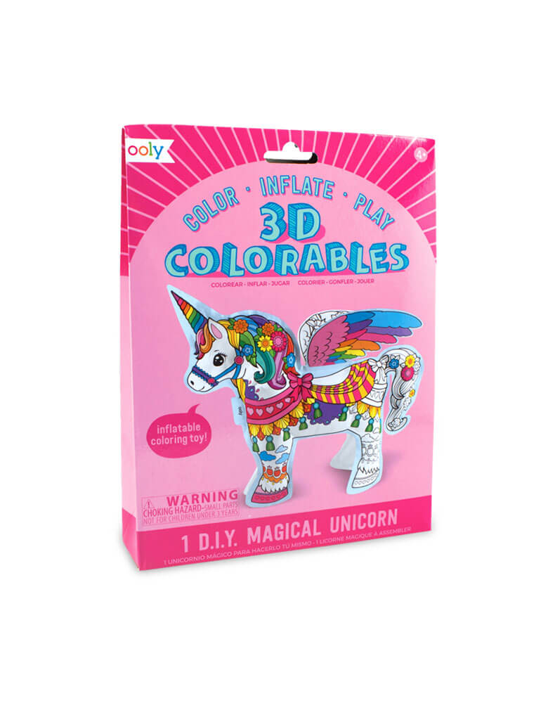 3D Colorables Magical Unicorns coloring toy