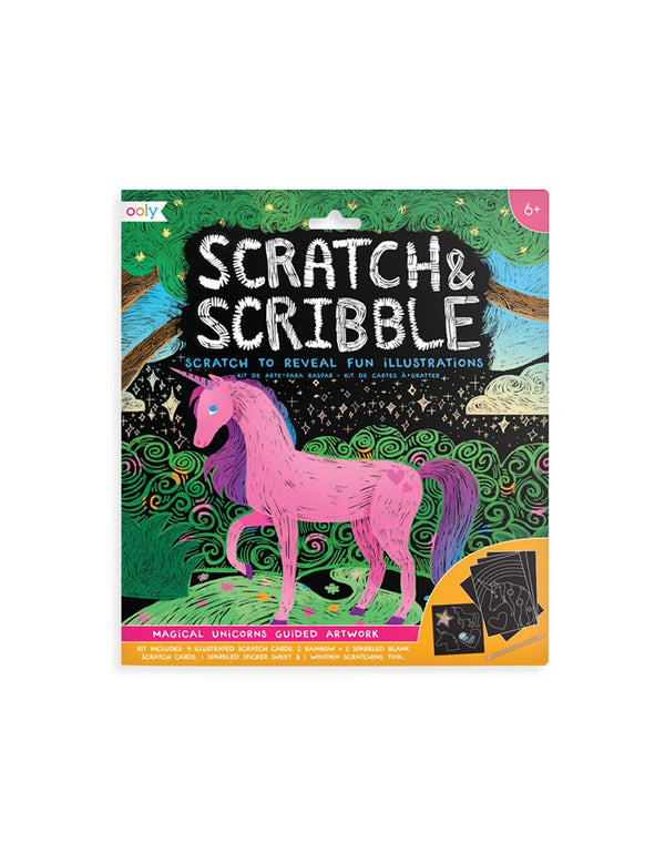 Scratch and Scribble Art Kit - Magical Unicorn