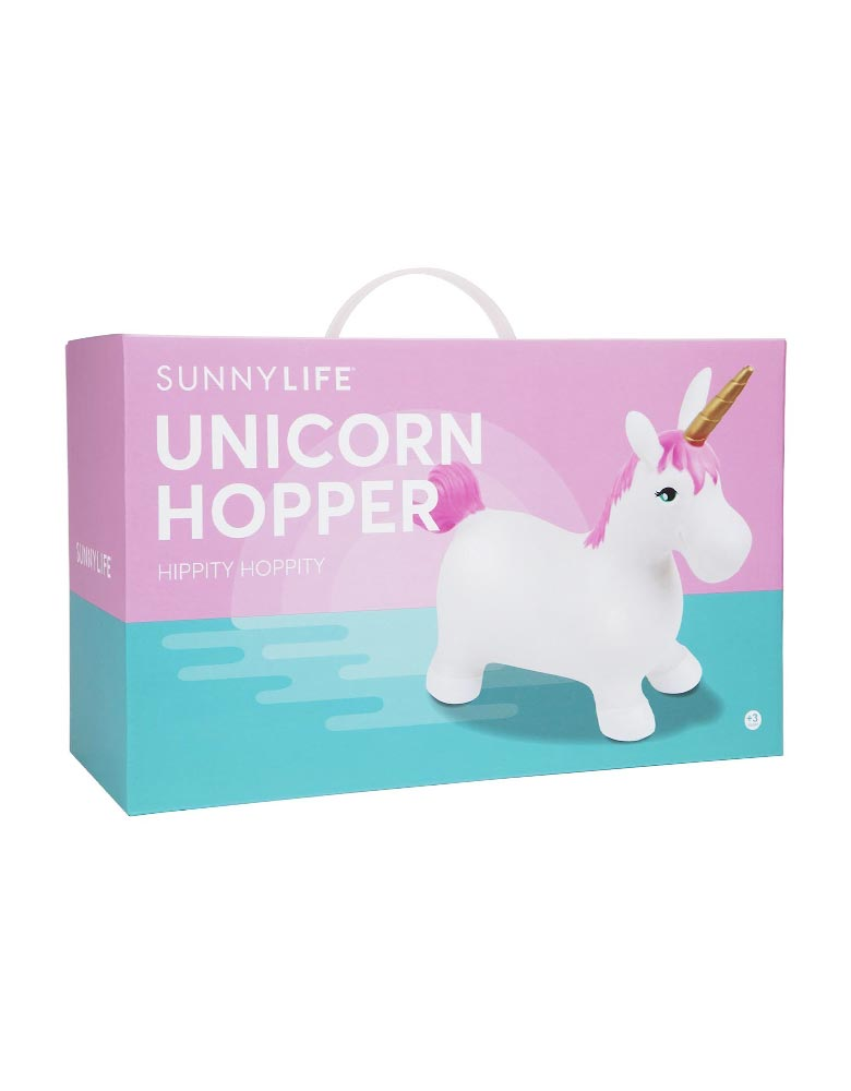 Sunnylife Unicorn Hopper packaging box, perfer gift for unicorn lover, birthday gift, fun play at home