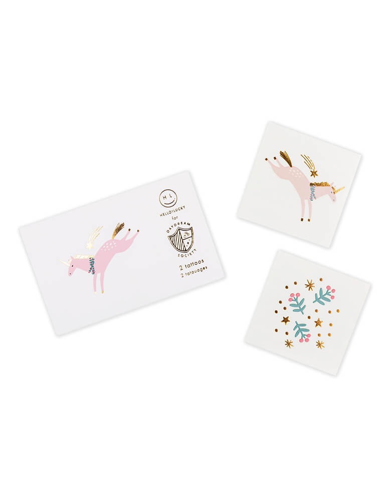 Daydream Society Magical Christmas Temporary Tattoos