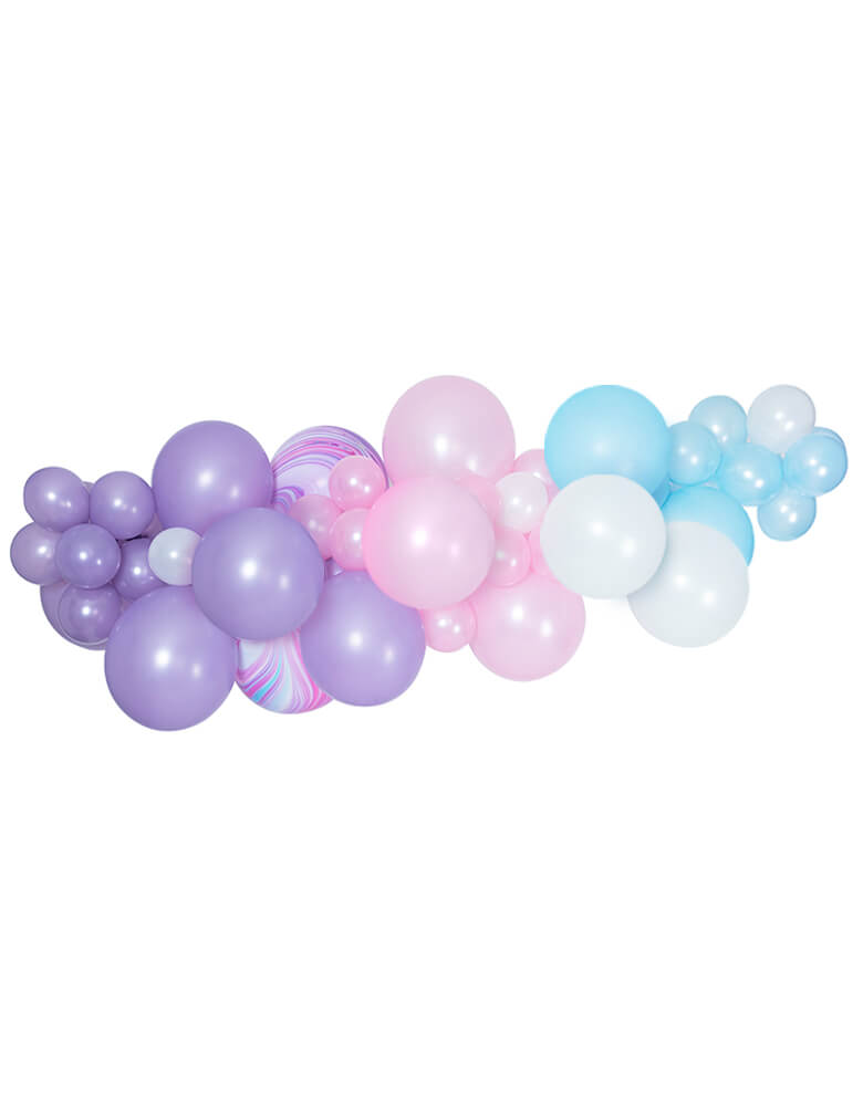 Magical Unicorn Party Purple Pink Pearl White and Blue Balloon Garland