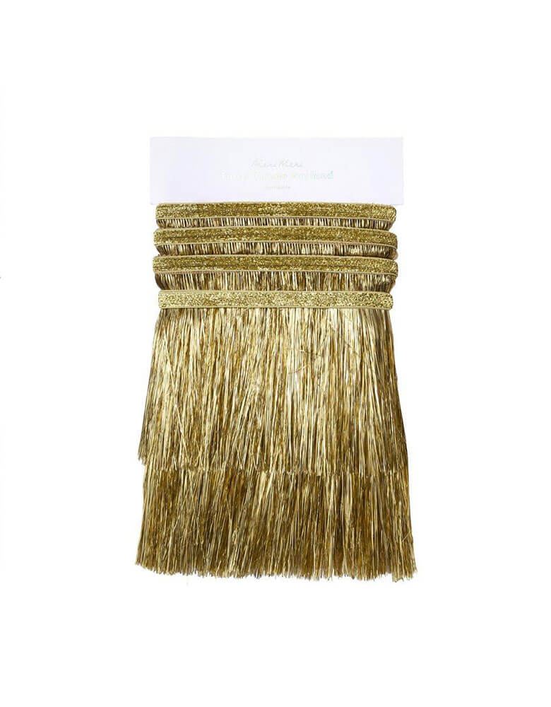 Meri Meri 6-feet-Gold-Tinsel-Fringe-Garland-Packaging