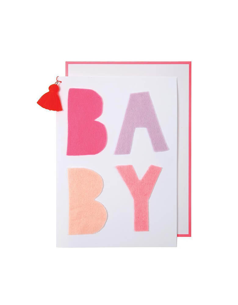 Meri-Meri_Pink-Felt-Baby-Girl-Shower-Card_Baby Shower Greeting Card