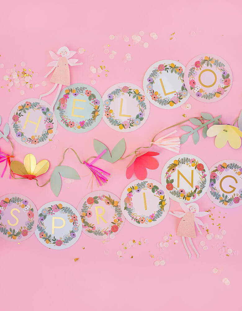 Rifle-Paper_Garden-Party-Letter-Garland with MeriMeri-Fairy-Garland