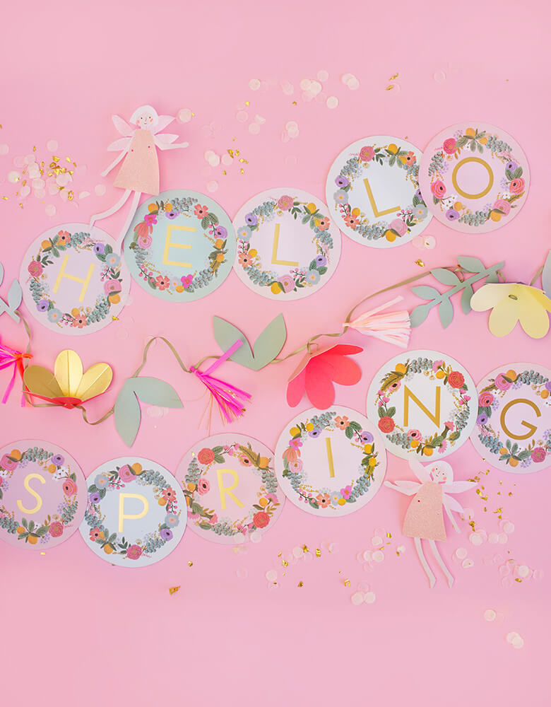 MeriMeri-Fairy-Garland and hello spring GARDEN PART LETTER GARLAND