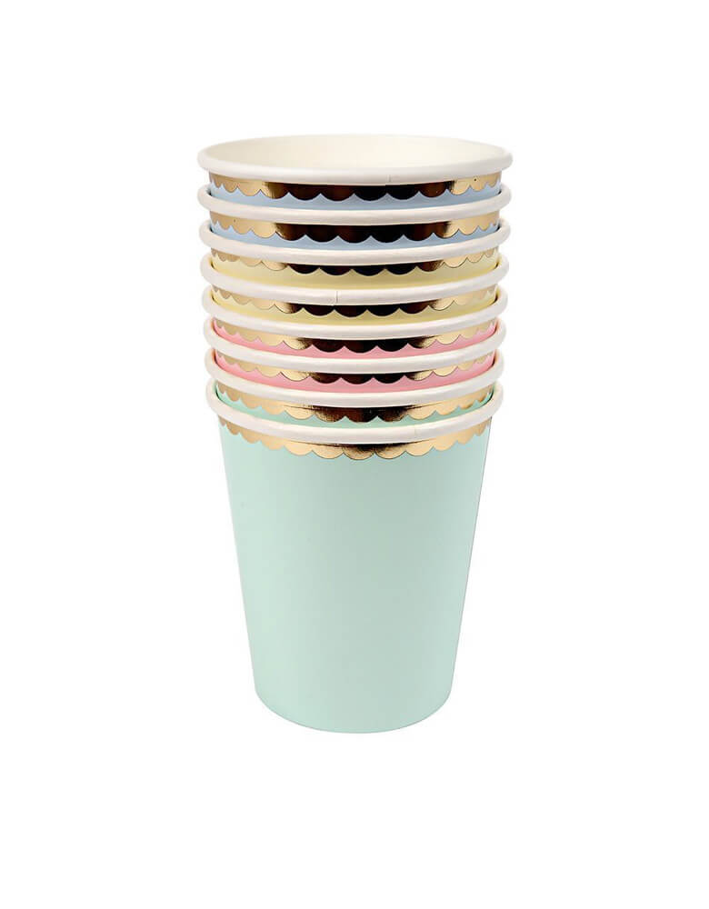 MeriMeri_Eco friendly Assorted-Pastel color paper Cups, Set of 8
