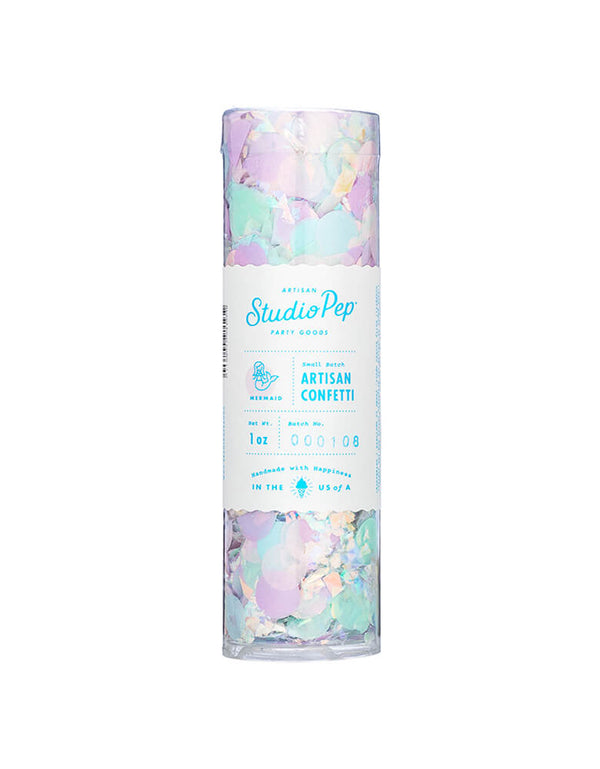 Studio Pep Mermaid Artisan Confetti 1 oz Tube - Pink, Mint, Blue and Lilac