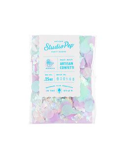 Studio Pep Mermaid Artisan Confetti 0.25 oz Mini Bag - Pink, Mint, Blue and Lilac