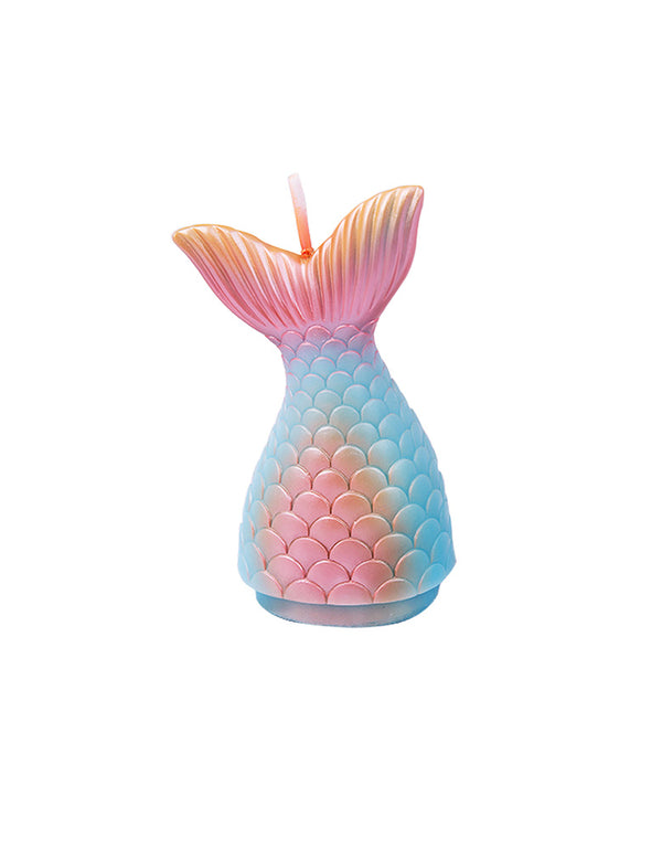 Pastel Ombre color Mermaid Tail Candle