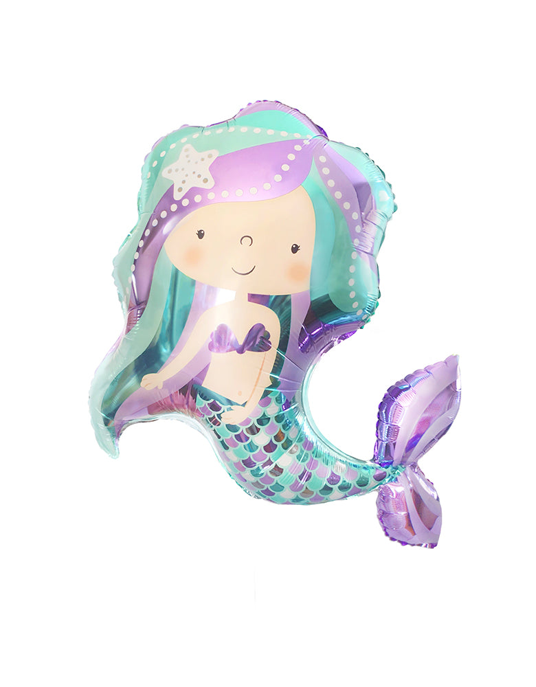 "36"" Mermaid Shape Foil Balloon"
