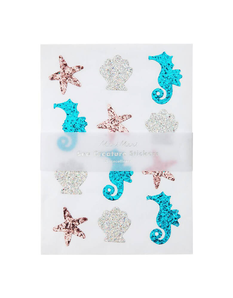 Glitter Sea Creature Sticker Sheets