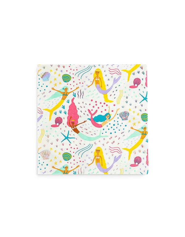 Mermaid Themed Party_under-the-sea-Napkin