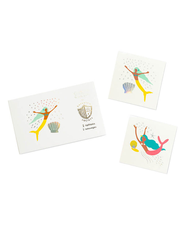 Daydream Society Under The Sea Mermaid Temporary Tattoos, Pack of 2