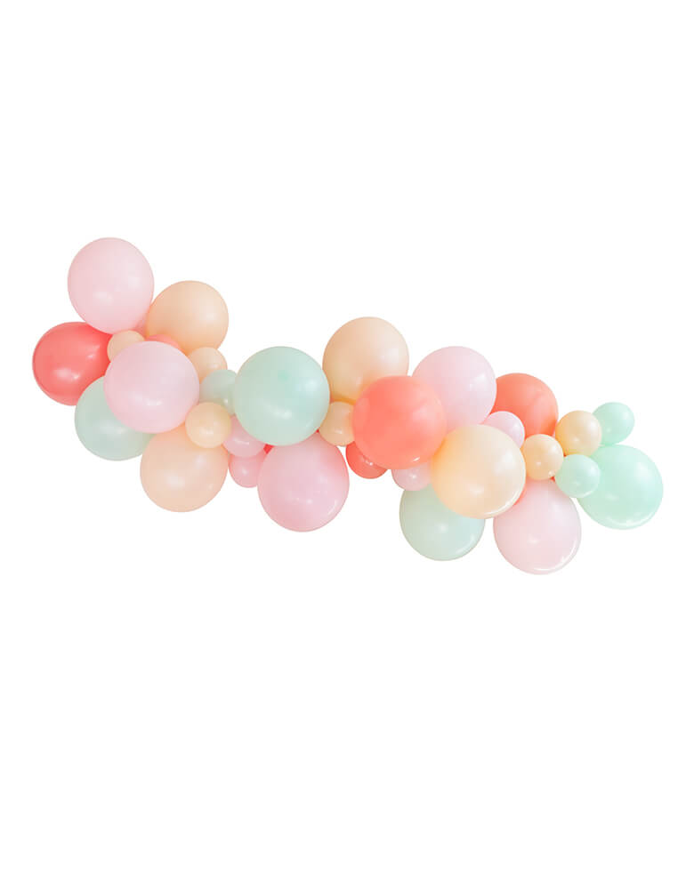 Merry and Bright Christmas, pastel color themed Balloon Garland, Balloon Cloud kit with pastel mint, pink, pearl, blush, coral Latex Balloons