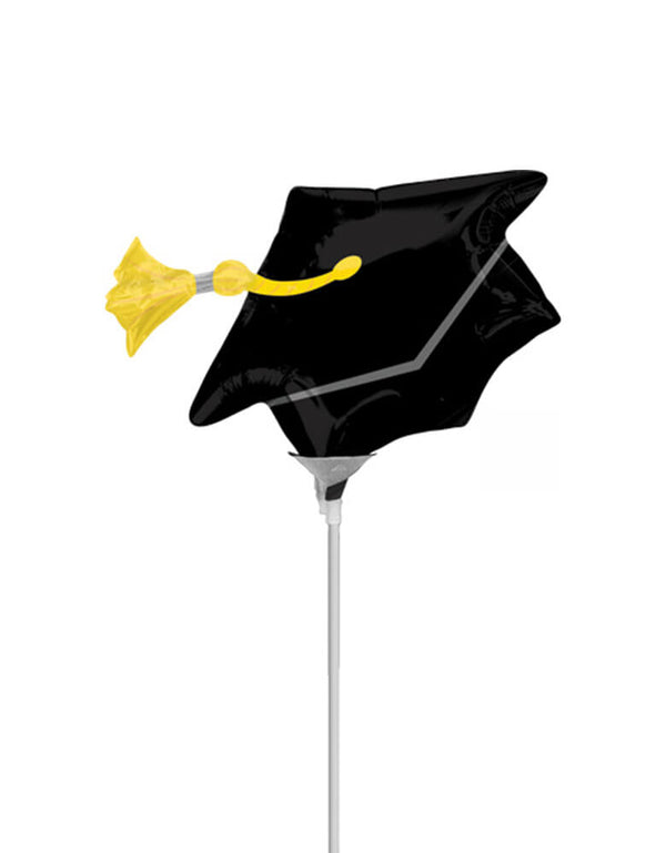 "Anagram 14"" Black Grad Cap Mini Foil Balloon"