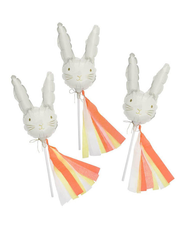 Meri Meri Mini Bunny Balloons Set of 6