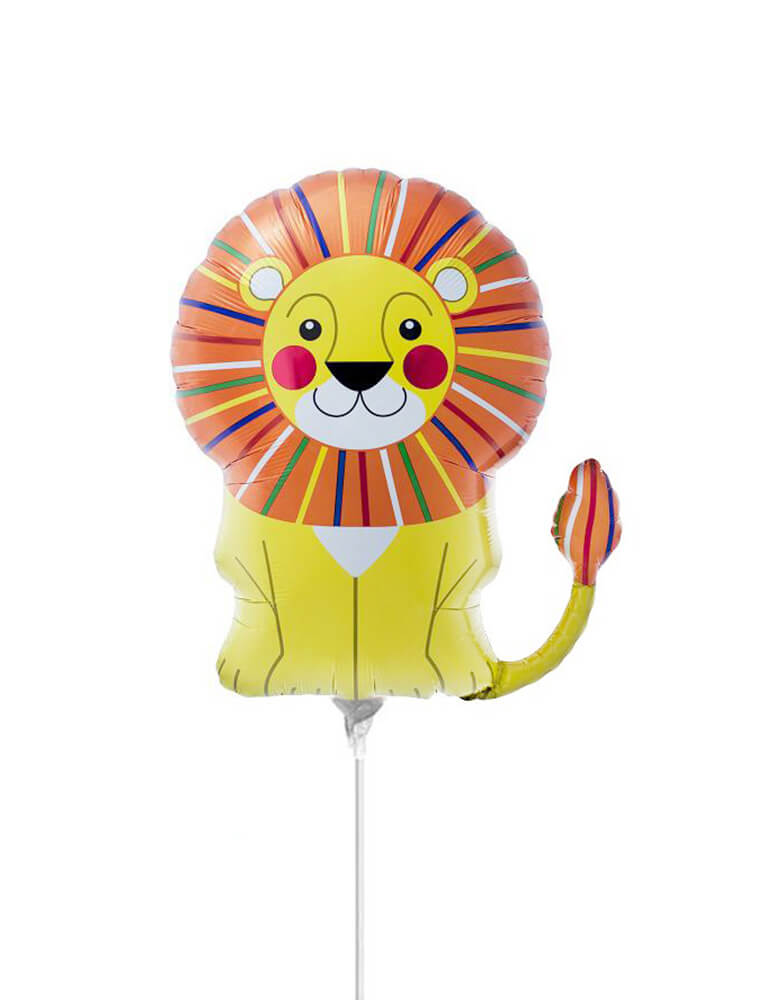 "14"" Mini Lion Foil Mylar Balloon (Air-Filled)"