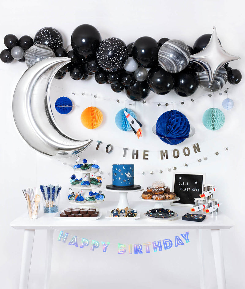 boy outer space themed birthday party idea