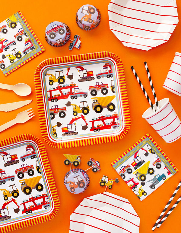 Meri Meri Party tablewares for boy construction birthday party