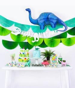 Morden and Neon Dinosaur theme party Set up look