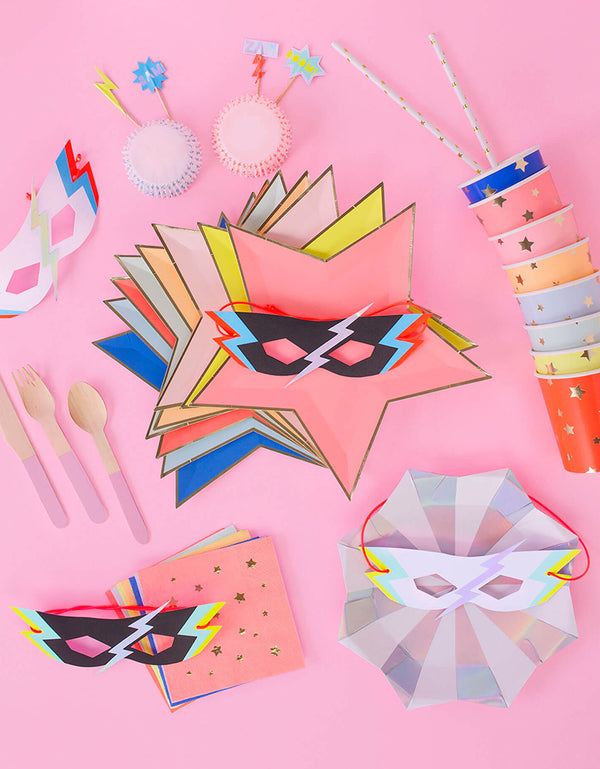 Girl Power Superhero themed Birthday Party supplies