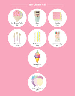 Product list of boys and girls ice cream theme birthday party box