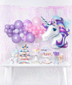 Girls Magical Unicorn Themed Birthday Party Idea And Inspiration Decoration Set Up