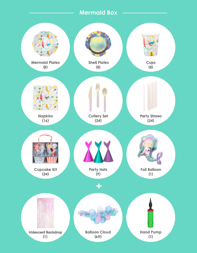 Party supplies list for Mermaid Themed Birthday Party