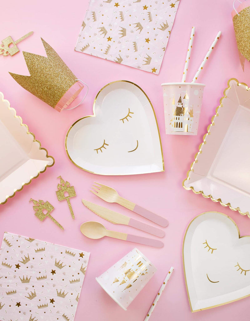 Baby Girl Pink and Gold Princess Birthday Party Supplies