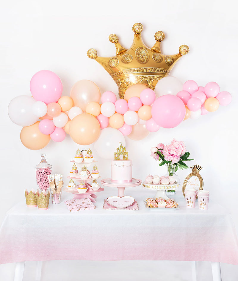 Pink and Gold Princess Themed Birthday Party Decoration Inspriation