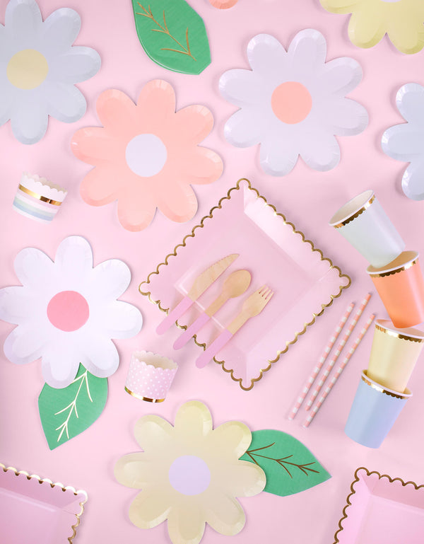 Tableware  inspiration for Pastel Tea Party, Baby Shower, Bridal Shower, Girls birthday party, Mother's day Celebration