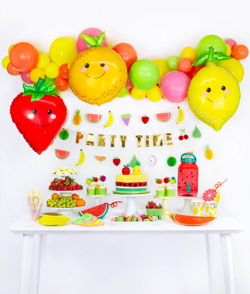 Fruit themed birthday party table set up look inspiration