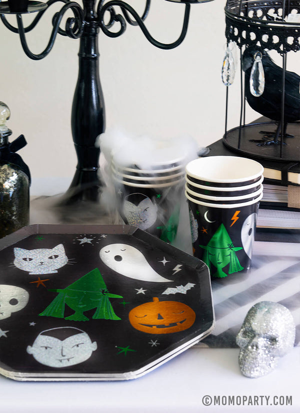 Halloween Motif Cups (Set of 8)