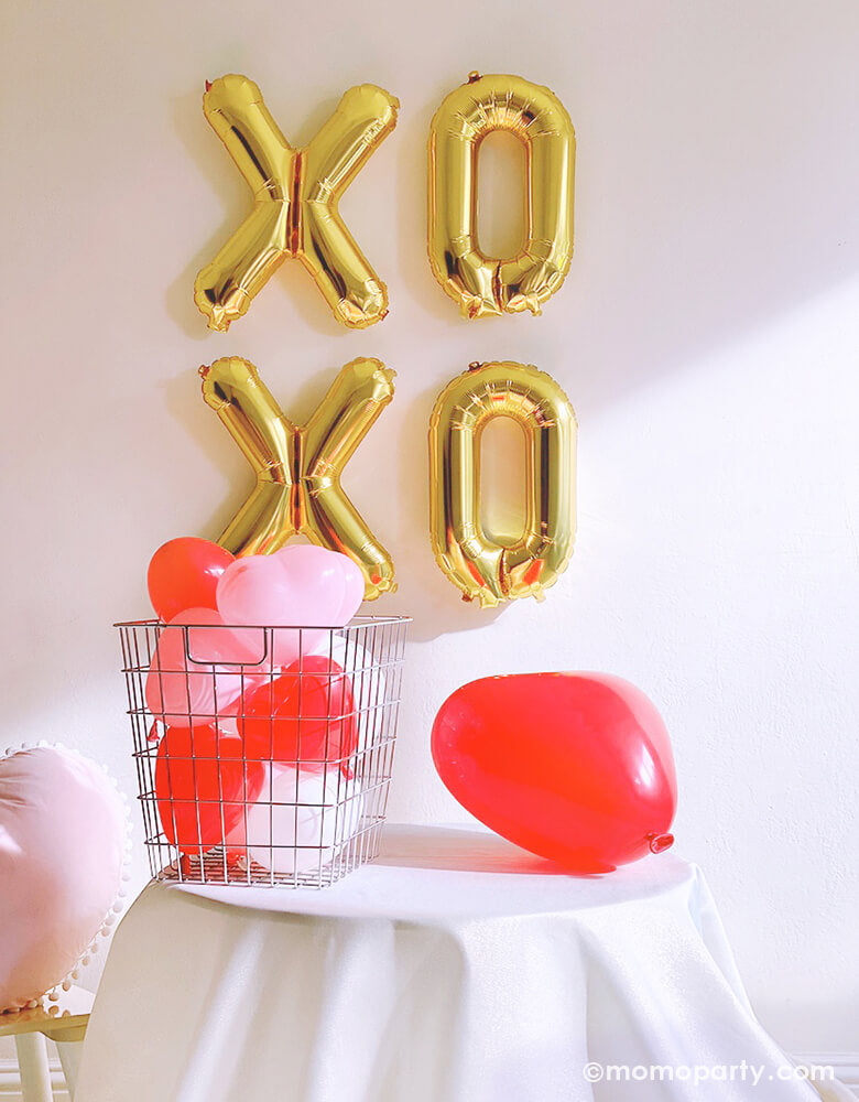 Assorted Heart Shaped Latex Balloon Mix (Set of 6)