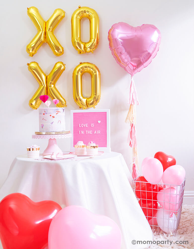 Junior Pastel Pink Heart Shaped Foil Balloon