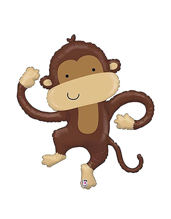 "Betallic 40"" Monkey Buddy Linky Foil Mylar Balloon"
