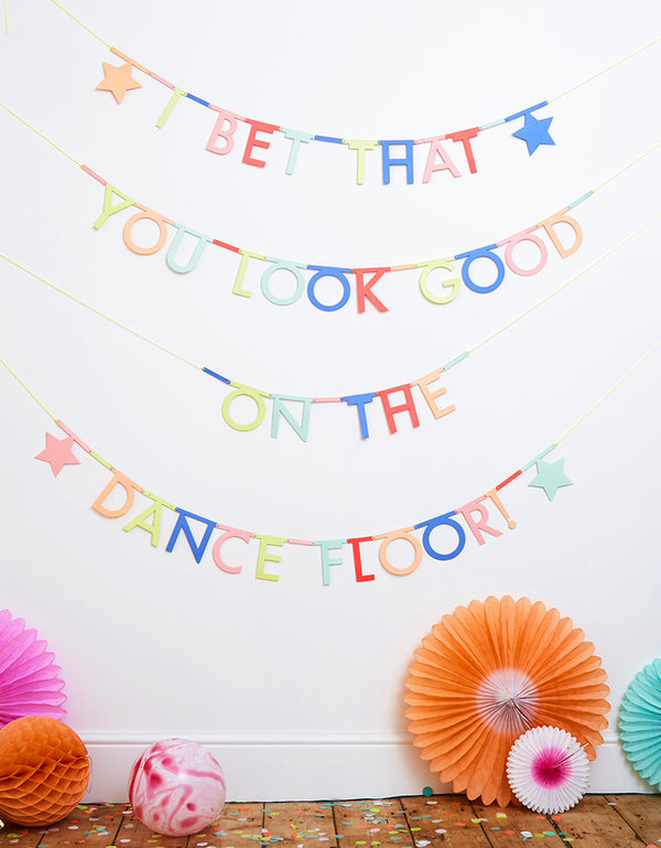 wall decoration with Multicolor-Make-Your-Own-Letter-Garland-Kit