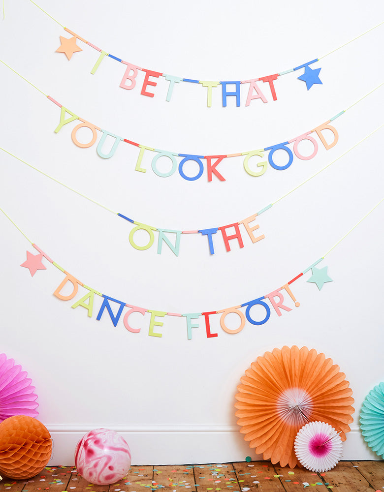 wall decoration with Meri Meri Multicolor-Make-Your-Own-Letter-Garland-Kit