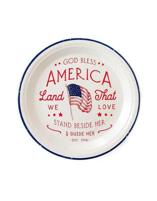 Good Bless America Large Plates (Set of 12)