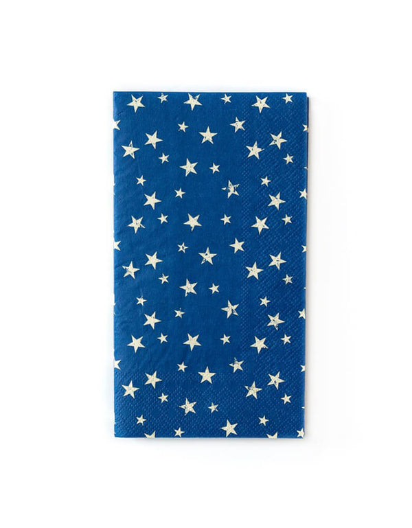 My Minds Eye -  Vintage Stars Guest Towel Napkins. Pack of 25, featuring the simplistic stars on a navy blue napkin design. are perfect for a patriotic backyard barbecues, or as an addition to a 4th July picnic basket.