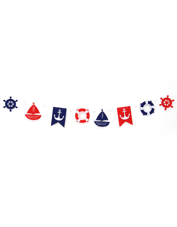 Mini Nautical Themed Felt Garland Party and Room Decoration