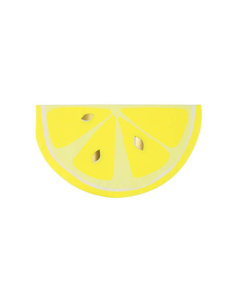 Meri Meri_Neon Citrus Lemon Party Napkins