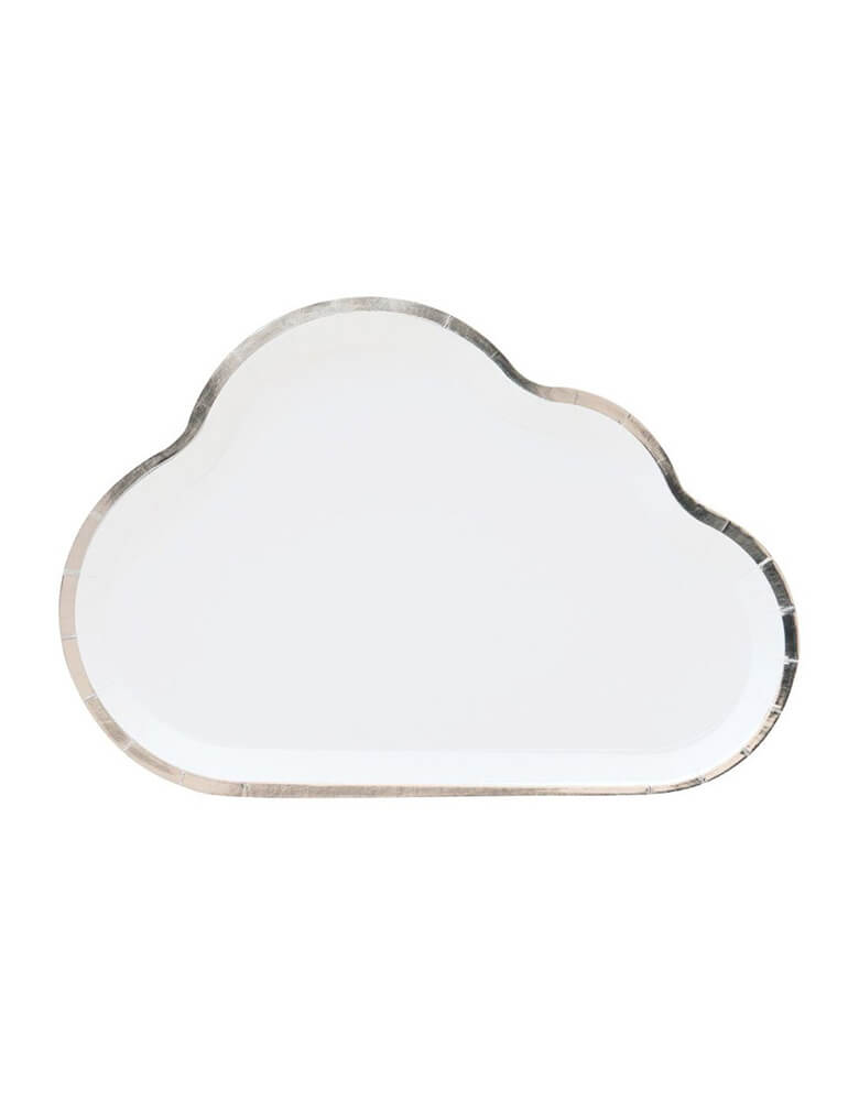 Oh Happy Day Cloud Shaped Paper Plates for Airplane Themed Party