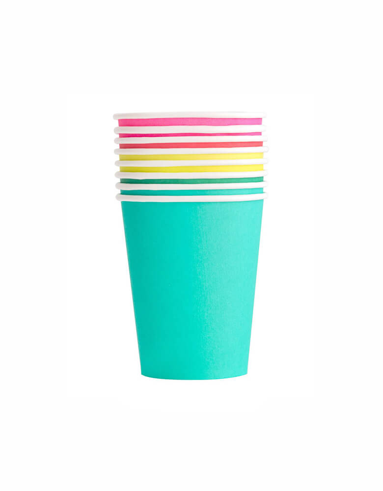 Oh Happy Day Party Cups Set in Rainbow Color