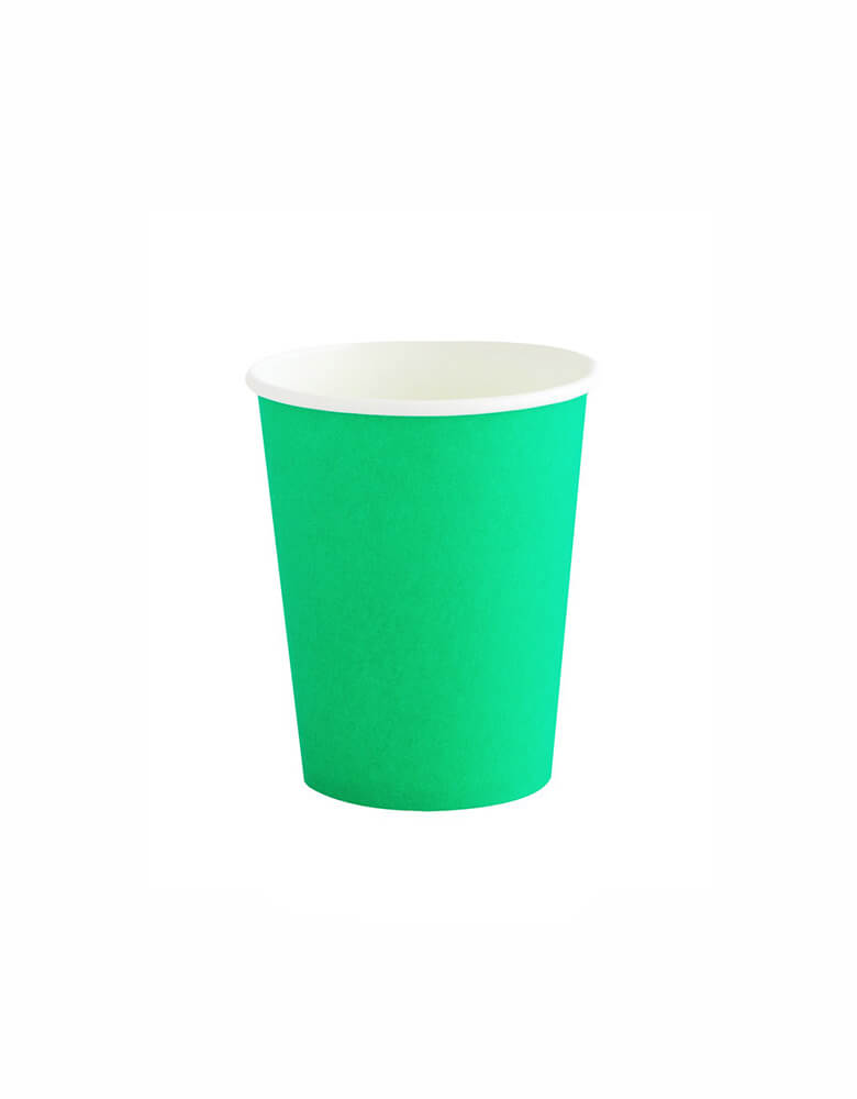 OH happy Day Rainbow cup in Kelly Green Color, these simply modern and chic Paper cups are eco-friendly, perfect for Rainbow Birthday party, Pride Celebration, Summer Party