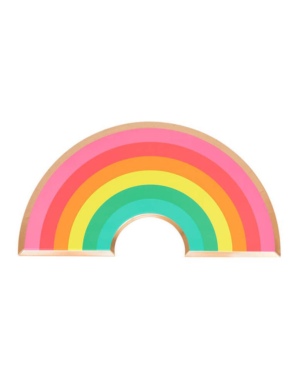 Oh Happy Day Rainbow Shaped Paper Plates for Rainbow Themed Party